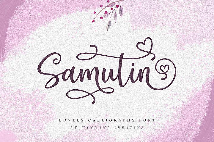 Samutin | Lovely Calligraphy Font