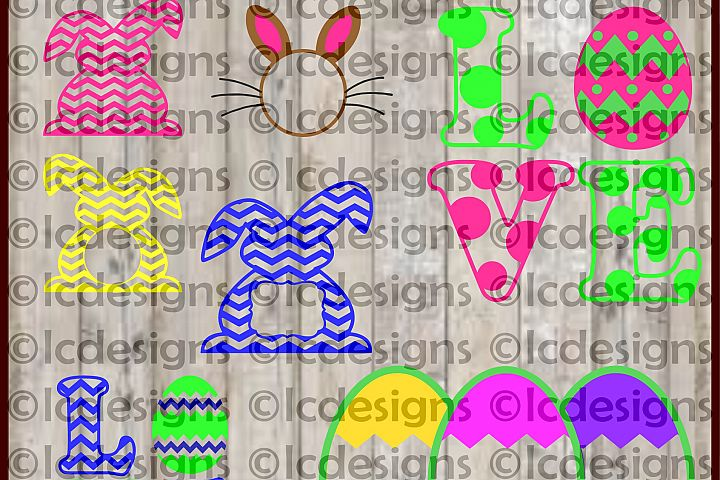 LC025 - Easter Monogram Frame Designs