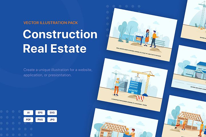 Construction & Real Estate Vector Illustration - Part 30