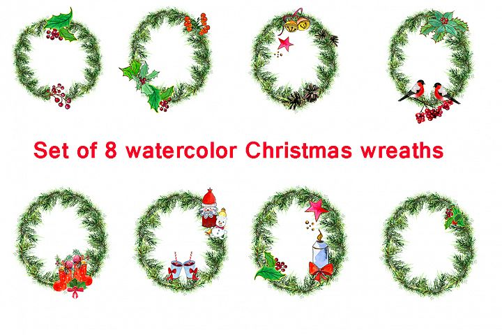 Set Christmas wreaths