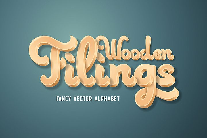 Wooden Filings Alphabet