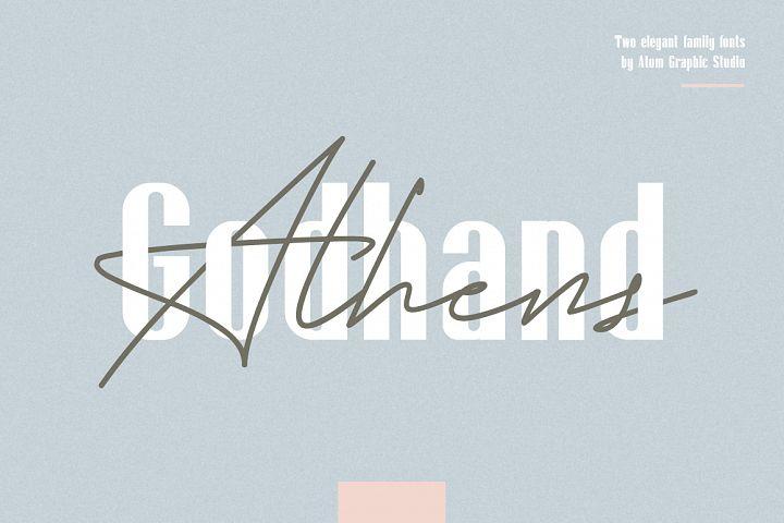Godhand Athens | Elegant Font Duo