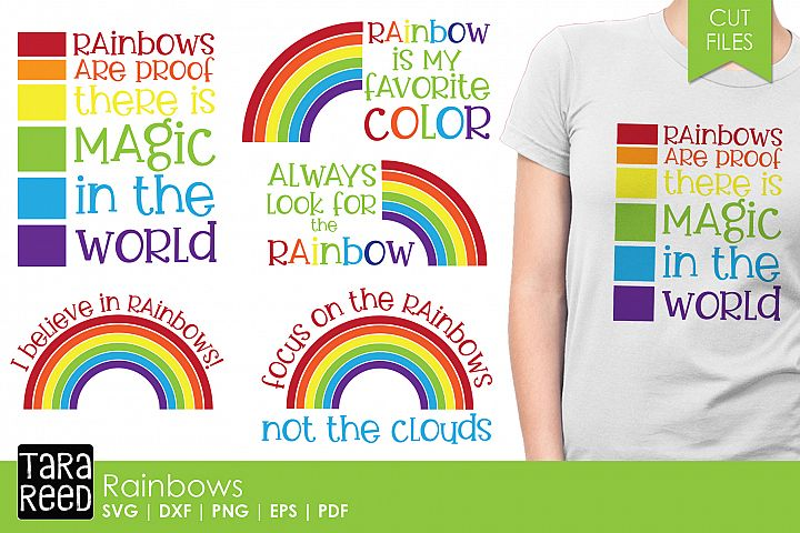 Rainbows - SVG and Cut Files for Crafters
