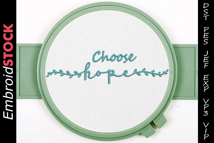 Choose Hope Embroidery Design