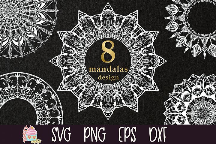 Mandala Bundle SVG - Mandala Monogram Frame Cut Files