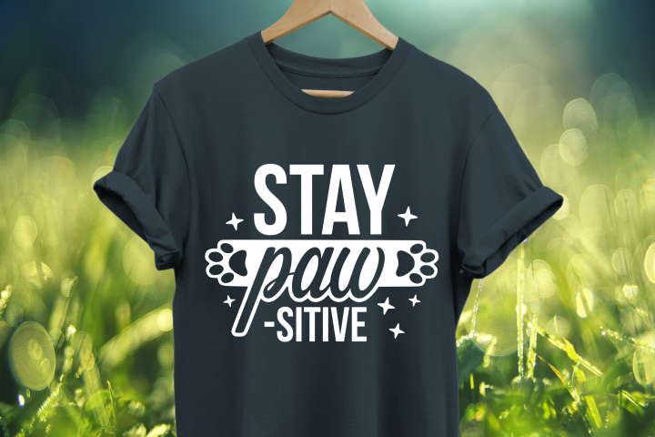 Stay pawsitive SVG