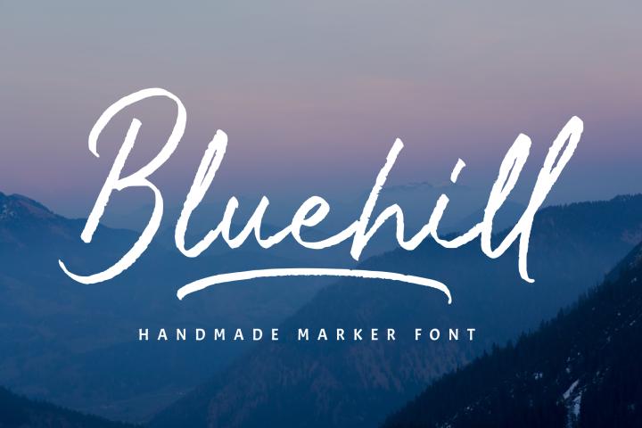 Bluehill - Marker Font