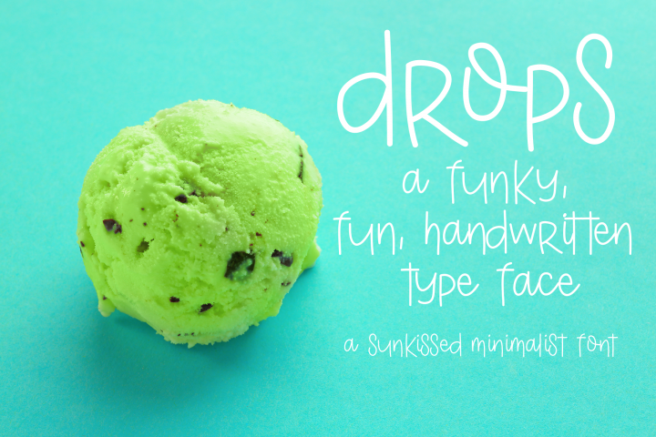 Drops - Free Font of The Week Design2