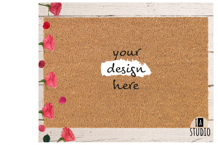 Doormat Mockup / Roses Doormat Mockup