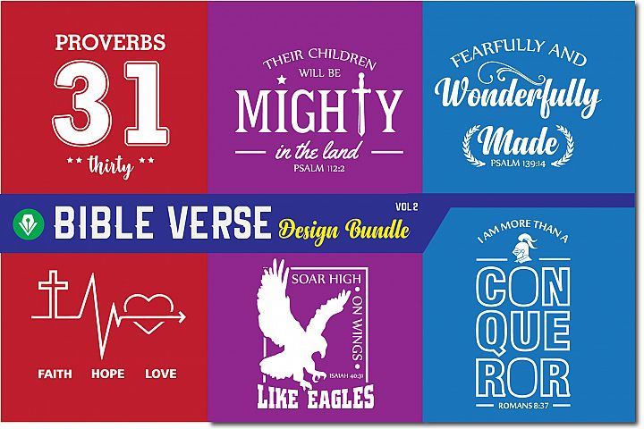 Bible Verse Design Bundle| Christian Svg Cut Files