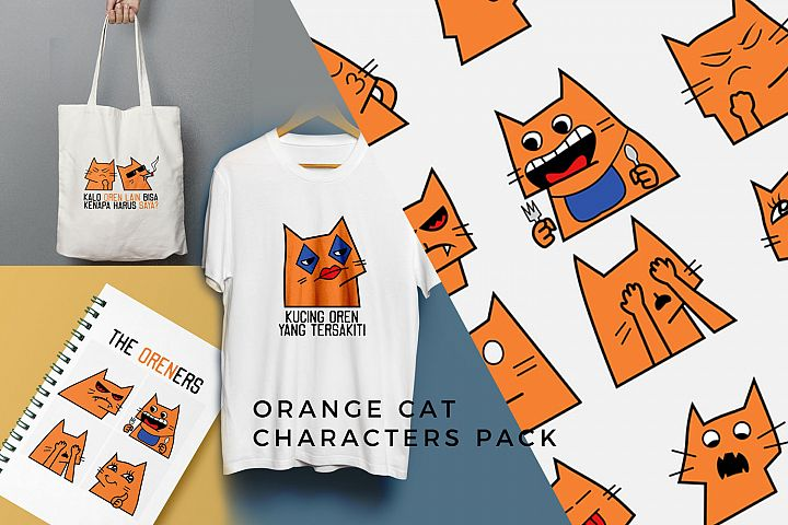 Orange Cat Characters Pack