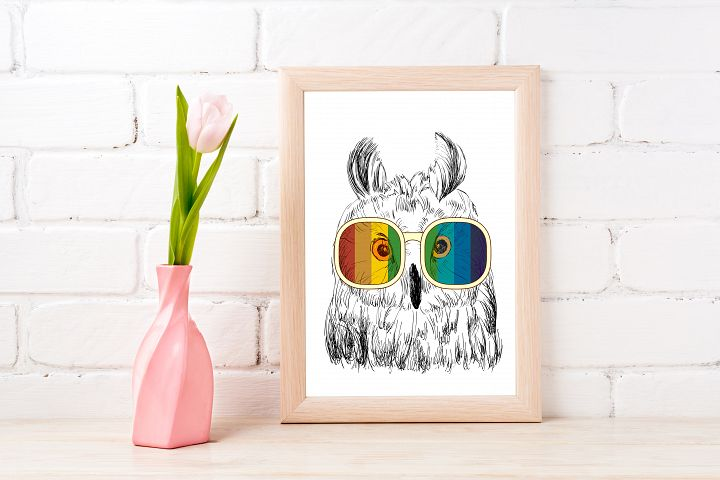 Fashion Owl Wall Art Printable - Instant Digital Download