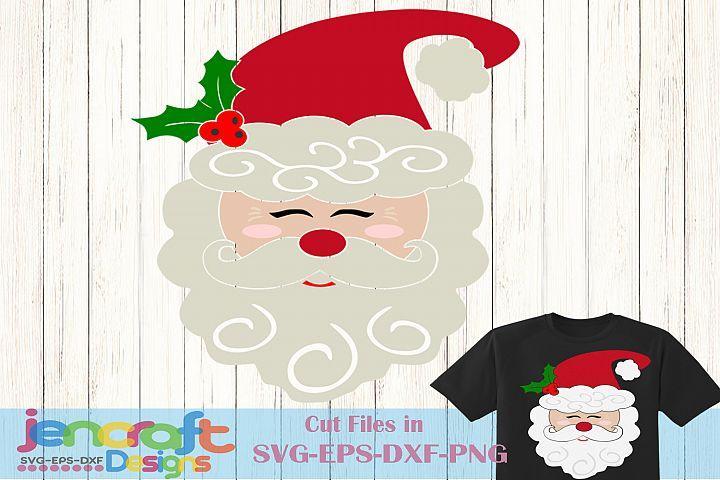 Christmas svg - Santa Claus Svg, Santa Face Svg
