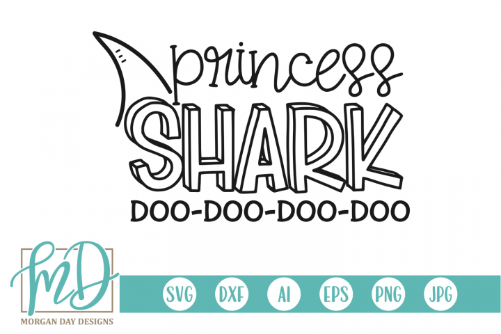 Princess Shark SVG