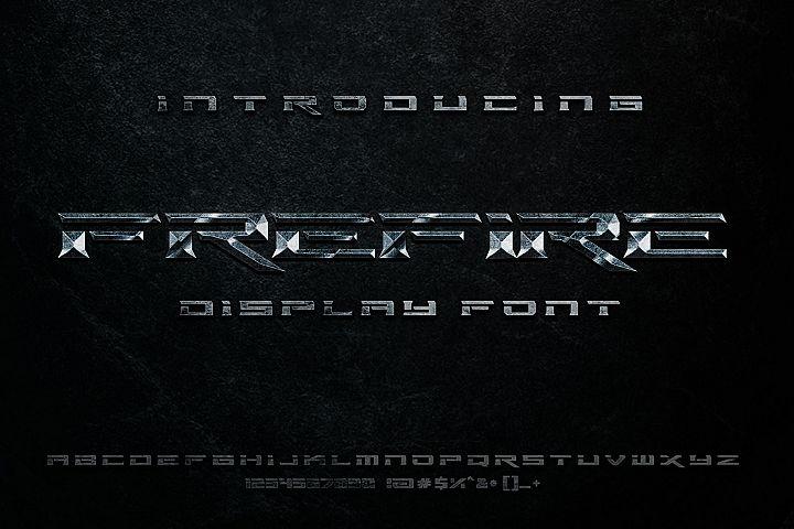 free fire display font