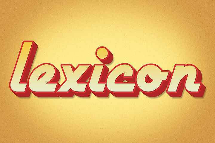 Lexicon Editable Photoshop Text Style Effect