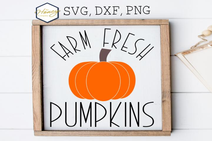 Farm Fresh Pumpkins SVG PNG DXF Halloween Harvest Fall