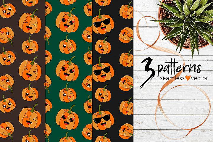 3 cool pumpkins patterns