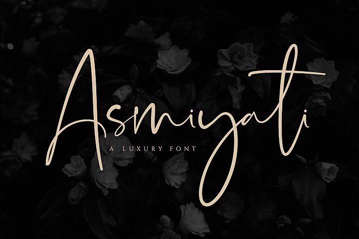 Asmiyati | A Luxury Script Font