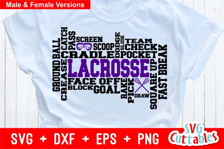 Lacrosse Word Art | Cut File
