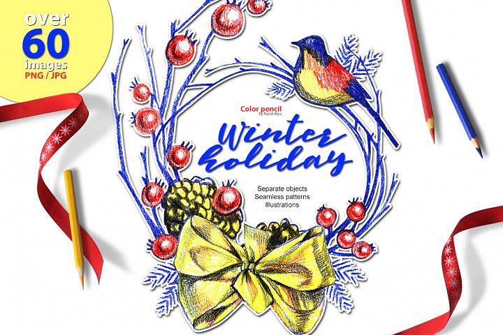 Winter holyday illustrations
