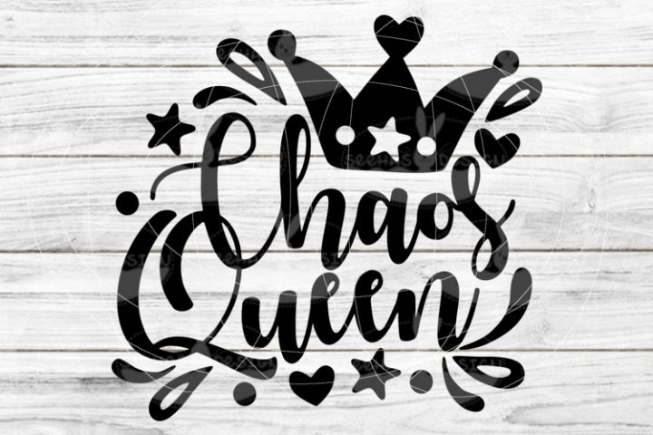 File Chaos Queenfor Cutting Lasercut Print SVG PDF EPS