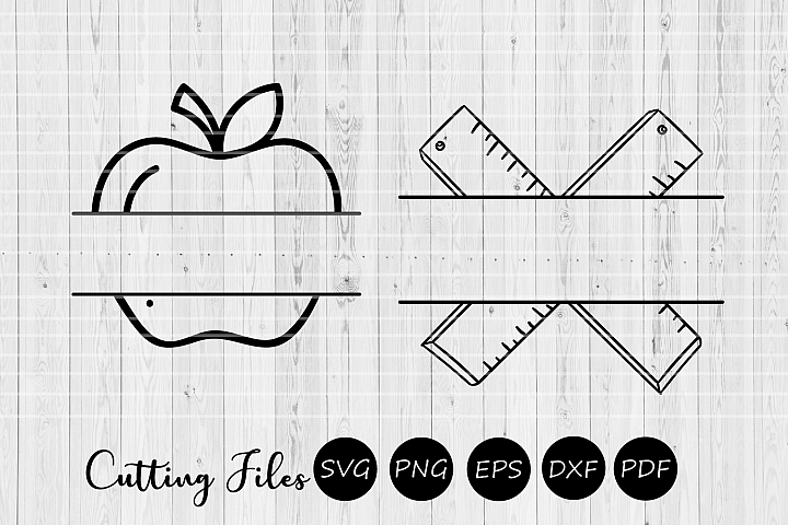 Teaching monograms  SVG Cutting file   Teacher  School  