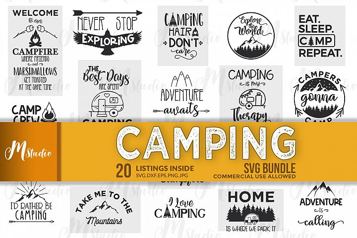 Camping SVG Bundle.