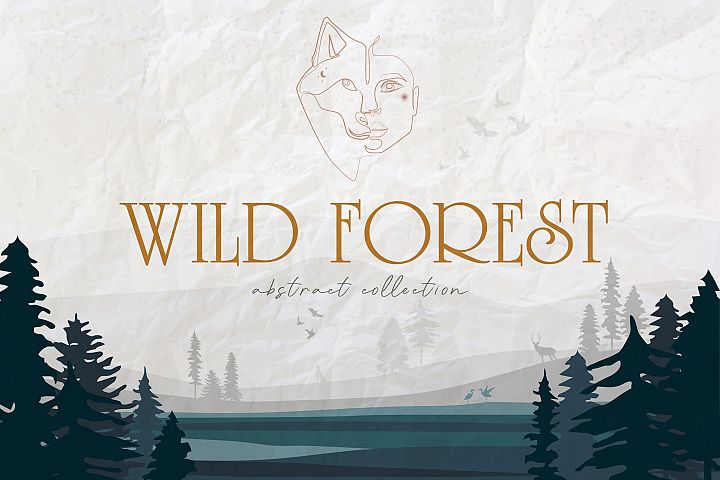 Wild Forest abstract collection