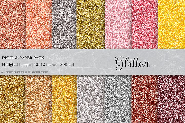 Glitter Digital Papers, Glitter Textures, Glitter Background