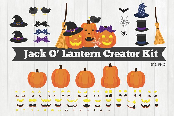 Jack O Lantern Creator Kit Clipart