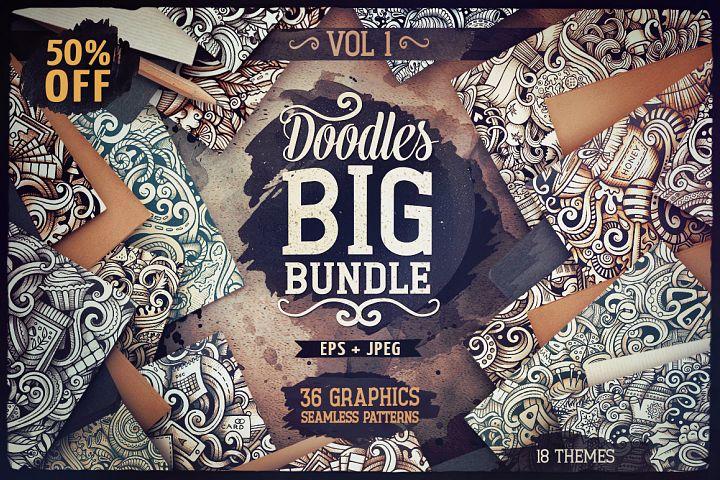-50 SALE/ Big Doodle Patterns Bundle #1