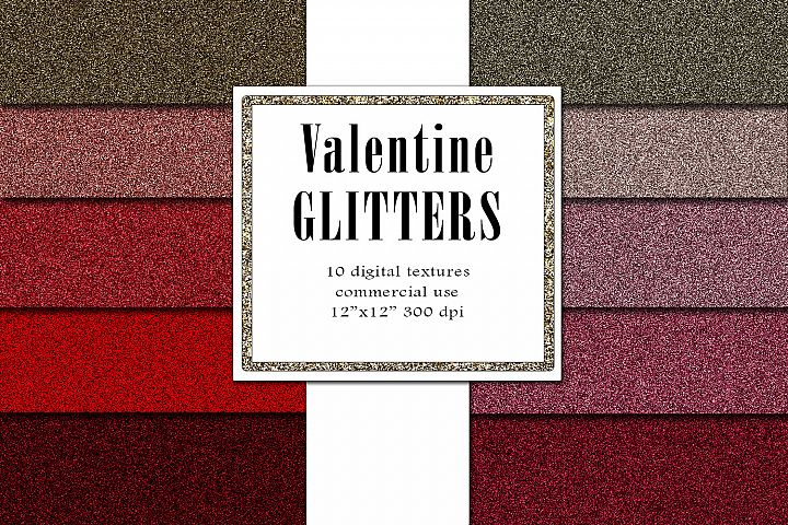 Valentine Glitters, Blush Red Textures, Romantic Paper