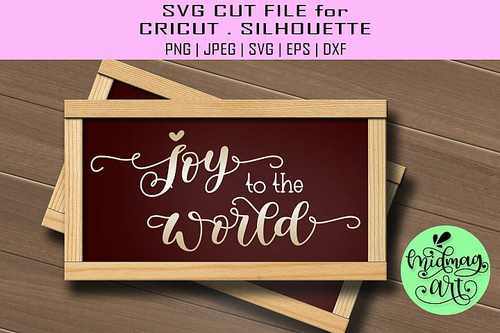 Joy to the world sign svg, christmas wood sign svg