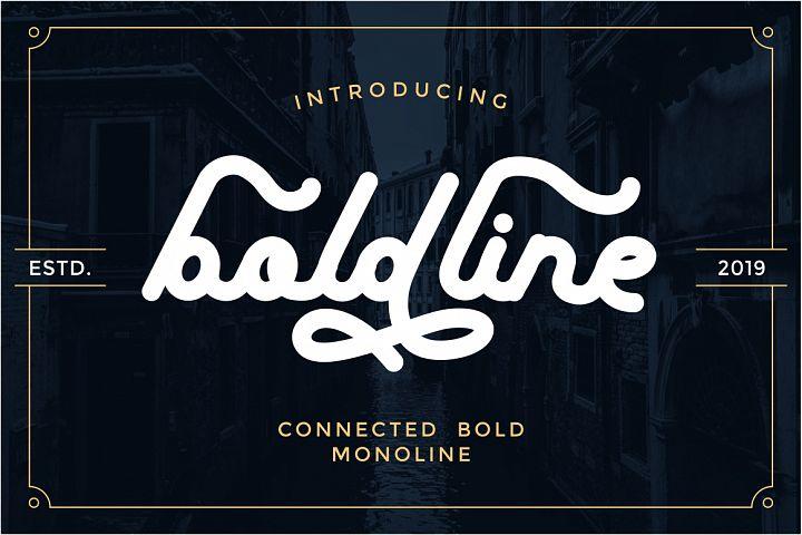 boldline - monoline bold typeface