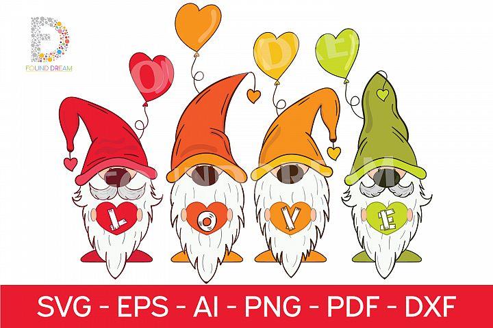 Gnome Love SVG files