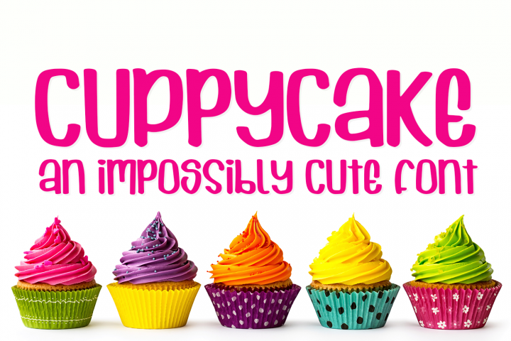 Cuppycake - an impossibly cute font - Free Font of The Week