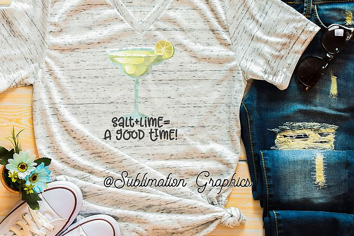Salt plus Lime 2 Sublimation Digital Download