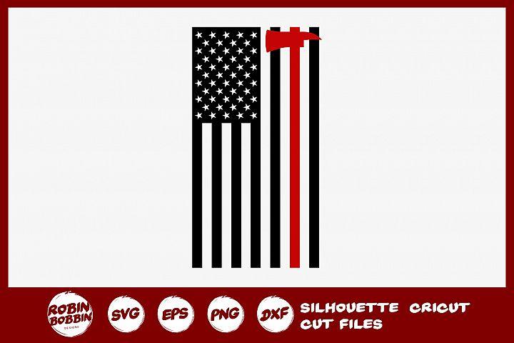 Firefighter Flag SVG - Firefighter SVG