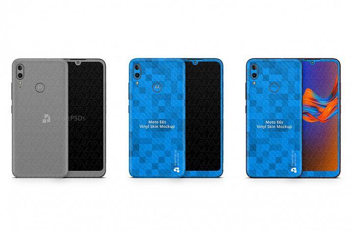 Motorola E6s 2019 PSD Skin Mockup Template