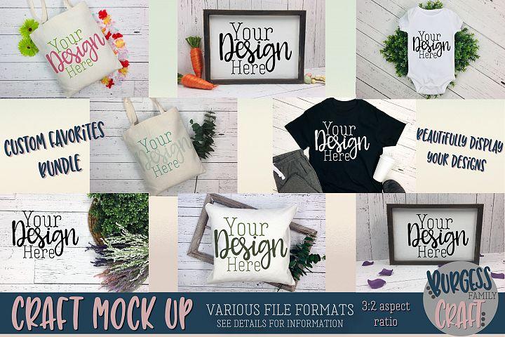 Custom Favorites Craft mock up Bundle | PSD & JPEG