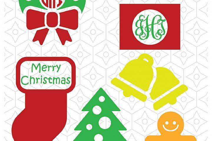 Christmas Decal Set - Frame for Monogram