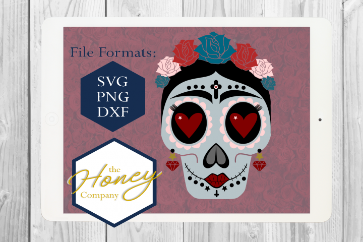 Sugar Skull SVG PNG DXF Day of the Dead Instant Download