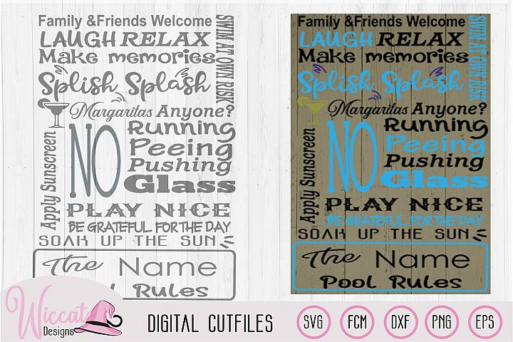 Pool rules sign, Swimming pool sign, Beach sign svg