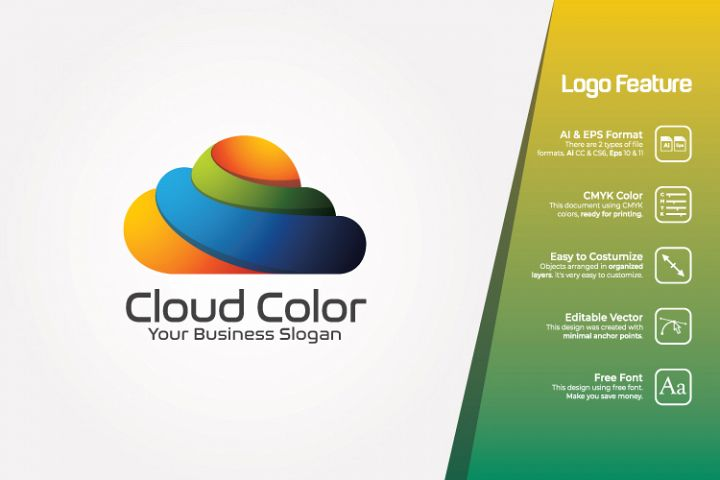 Colorful Cloud Logo Template