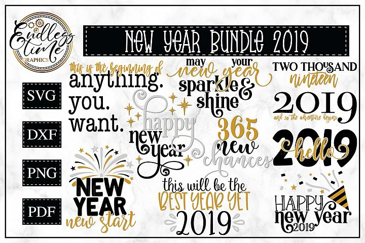 2019 New Year Bundle- 10 Unique New Year Designs