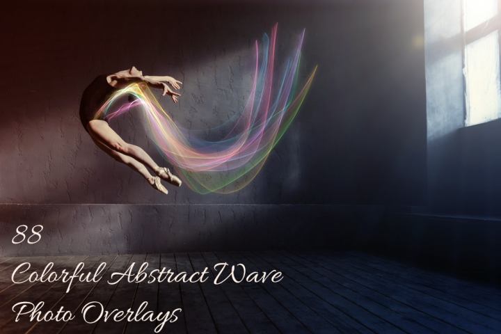 88 Colorful Abstract Wave Photo Overlays
