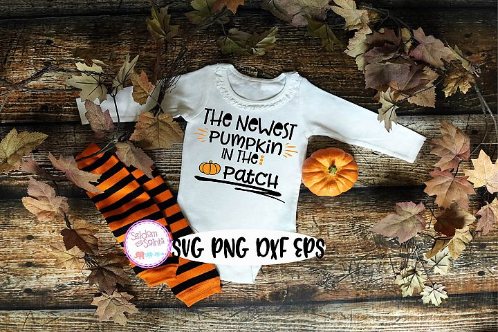 Newest Pumpkin in the Patch SVG PNG EPS DXF