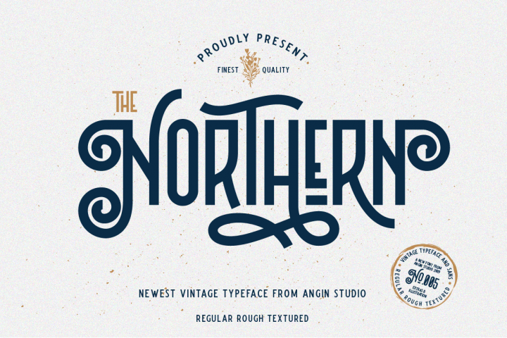 Northern 5 Fonts with Extras