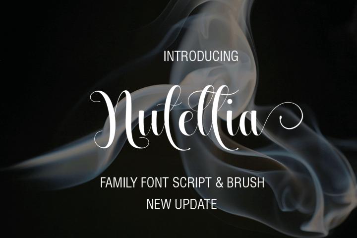 Nutellia Font Script & Brush